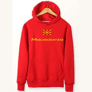 Wholesale Macedonia flag hoodies National high quality sweat shirts Fleece clothing Pullover coat Outdoor sport jacket Brushed sweatshirts