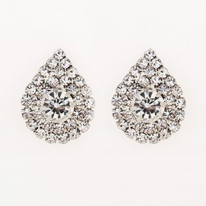 Wholesale 2017 fashion jewelry studding wedding earrings for brides popular rhinestone dress baldpates natural stone women earings E016
