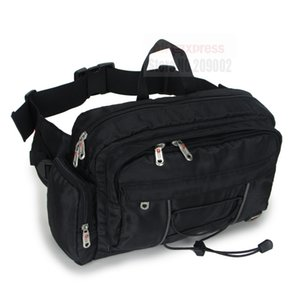 Wholesale PLANET OCEAN Men s Waist bag Fanny pack Cool Big Capacity Great Quality Nylon Black New