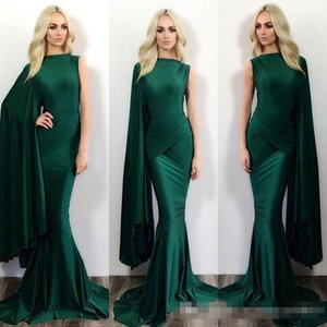 Wholesale 2016 Hunter Green Mermaid Formal Evening Dresses Michael Costello One Shoulder Sweep Train Plus Size Prom Party Gowns Occasion Event Wears