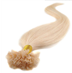 "Grade 5A-- 14"" -26"" 0.5g s 200g pack nail u - tip Indian remy Hair Extensions blonde Color 613 dhl free shipping on Sale"