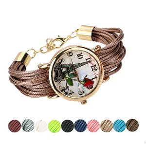 Wholesale fashion hot selling female watch Women Rose Tower Black Coffee Dark blue Gold Pink Red Sky Blue Silver White Yellow