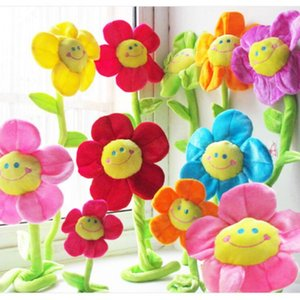 New Sun Flowers Plush Toys Baby Room Curtain Clips Buckle Decorative Plants Mix Color Wedding Lover's Gift For Girls