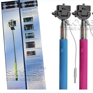 Monopod Extendable Self Timer Handheld With Cable Z07-5 plus With Groove Cable Take Pole Monopod selfie stick For Iphone 6 Samsung s5