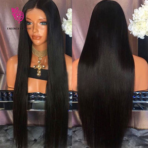 Brazilian Silky Straight Lace Front Human Hair Wigs 130 Density Glueless Full Lace Wig with Baby Hair Natural Hair Line