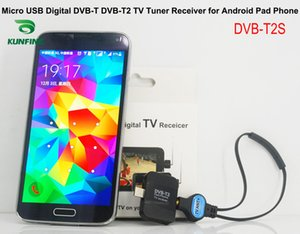 Wholesale Car Micro USB Digital DVB T DVB T2 MPEG2 MPEG4 TV Tuner Receiver for Android Phone and Pad KF V8001