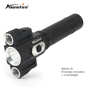 Wholesale AloneFire X180 Lumiparty LM LED Flashlight XML T6 XPE degree rotating Outdoor portable Stand Light Magnet Waterproof Flashlight
