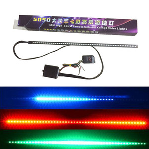 Car Styling Waterproof 48 LED RGB Flash Car Strobe Knight Rider Atmosphere Decorative Neon Lamp Kit Light Strip Remote Control