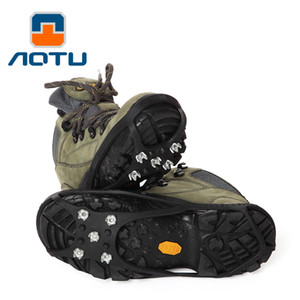 Wholesale AOTU Outdoor Shoe Cover Crampons Super Light-weight 5 Tooth Ice Crampons Antiskid Shoes AT8603 Catch 252