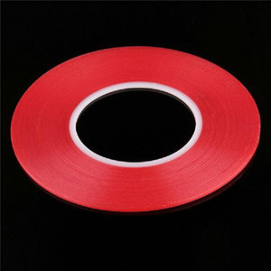 Wholesale 50pcs Transparent Clear Adhesive Transparent Double side Adhesive Tape Heat Resistant Universal cellphone repair sticker red
