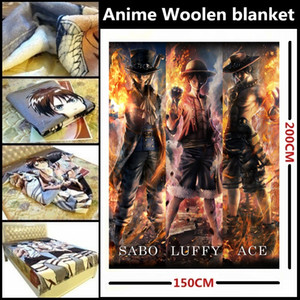 Wholesale one piece usopp for sale - Group buy Anime ONE PIECE Luffy Ace Sabo Zoro Nami Sanji Robin Chopper Usopp Franky combustion Edition Beautiful velveteen woolen blanket bed linings