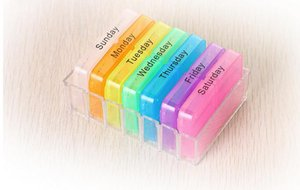 Wholesale Handy Day Pill Mini Box Tablet Holder Medicine Dispenser Organisers Tablets Case Pill Cases Pill Splitters