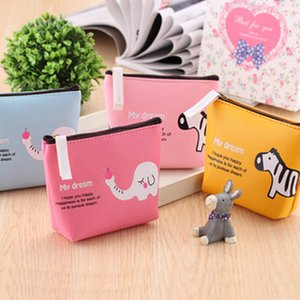 Wholesale Canvas bag package cute animal park creative simple male and female student wallet cartoon animal coin bag