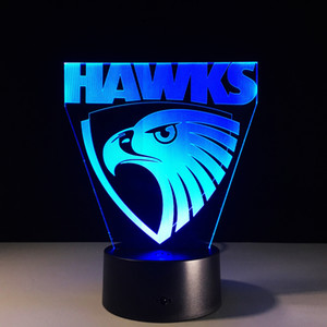 Wholesale Hawks D Optical Illusion Lamp Night Light RGB Lights DC V USB Charging th Battery Dropshipping