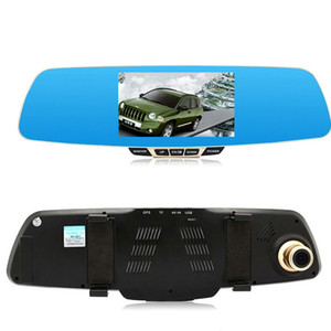 Wholesale BEIBEIKA 5.0 inch HD Blue LCD Screen Android GPS Navigation Mirror Car DVR Dual Lens Blue Mirror Rear view car dvr