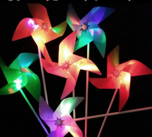 Wholesale Party dress up LED luminous windmill kindergarten children cartoon image colorful windmill children s toys small gifts