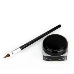 pincel de maquillaje al por mayor-Nuevo Waterproof Eye Liner Pencil Make Up Liquid Liquid Eyeliner Shadow Gel Makeup Brush Black maquiagem