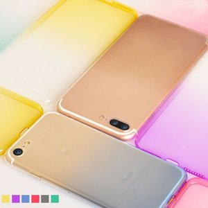 Wholesale Phone Cases Shockproof Iphone Plus waterproof Phone Cases Full Cover Bag Case Gradient Clear Soft Cellphone case For Iphone S Plus