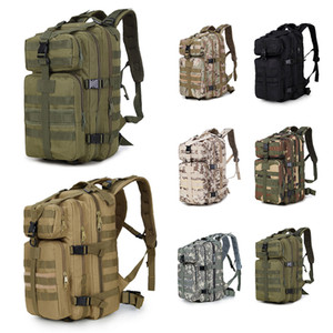 Wholesale waterproof backpacks resale online - Outdoor P Military Tactical Backpacks Waterproof Nylon Oxford Camouflage L Rucksacks Camping Hiking Bag Trekking Bag Sho