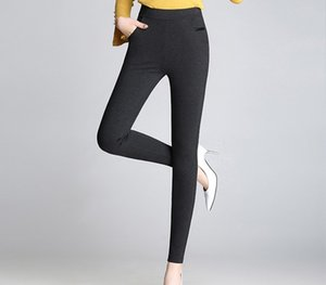Wholesale 2019 Hot Sexy Women Pants Spring and Autumn Korean Style Viscose Mid high waisted Elastic Strenchy All match Skinny Leggings