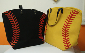hot selling new arrival black color Baseball Totes Canvas Tote sports Softball bag
