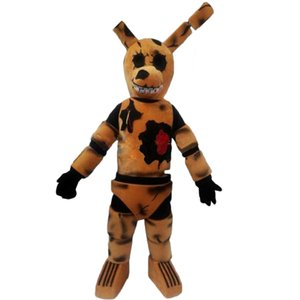 Wholesale Five Nights at Freddy FNAF Toy Creepy Brown Bunny mascot Costume Suit Halloween Christmas Birthday Dress Adult Size blue fox