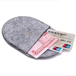 Wholesale fashion hasp Felt women coin purse bag change purses female wallet small cute bag mini handbag for girls boys men