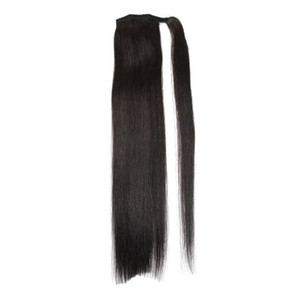 """Length 16""""-30"""" 100% Natural Brazilian Remy Human hair Ponytail Horsetail Clips in on Human Hair Extension Straight Hair"""
