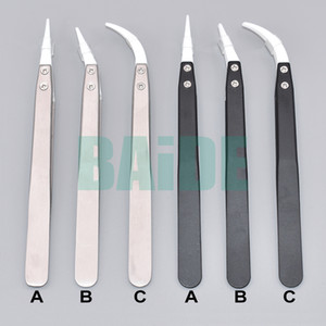 Wholesale anti static tweezers for sale - Group buy Anti static Ceramic Tweezers Electronic Cigarette Resistance Wire DIY Tool Heat Resistant Interchangeable Head Pointed Tip