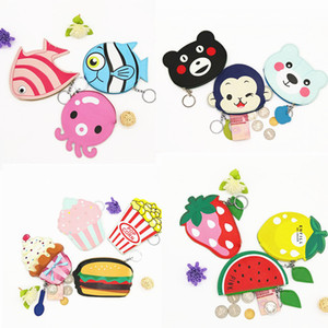 Wholesale 20X New Lady Cute PU Cartoon Creative Zipper Mini Wallet Leather Key Bag Coins Purse