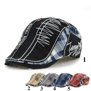 Wholesale New Unisex Plaid Beret Hats for Men or Women Visor Berets Cap