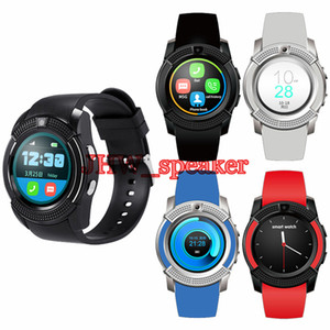 Wholesale V8 Circular Smart Watch Hot Sale U8 DZ09 A1 GT08 Bluetooth Watches Android M Camera MTK Chip Smartwatch For Cell phone Micro Sim TF Card