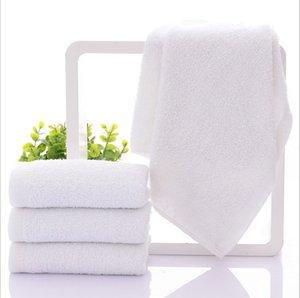 32*70 cm 100% Cotton White Face Hand Hair Towel Washcloth Hotel Favor Supplies 10pcs lot JF007