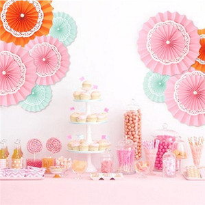Wholesale birthday decorations paper flowers resale online - ecorative Wedding Paper Crafts CM Flower Origami Paper Fan DIY Wedding Birthday Party Decorations Supplies Kids