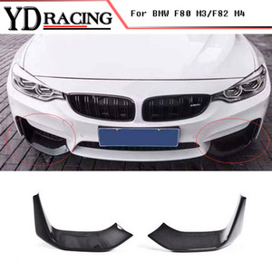 Car Styling Carbon Fiber Racing Front Lip Splitter Flap Cupwings for BMW 4 Series F80 M3 & F82 M4 Bumper Only 2015-2017