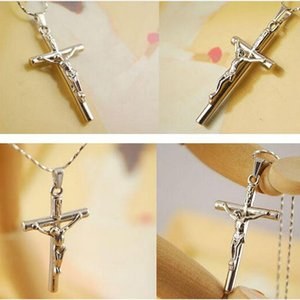 Wholesale Kids Jewelry Unisex Christian Stainless Steel cm quot Jesus Cross Crucifix Chain Pendant Necklace Gift for Children Boys Girls