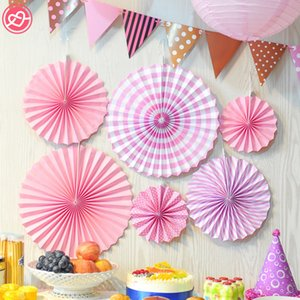 Wholesale Set Colorful Handcraft Origami Tissue Folding Flower Fan Kid s Birthday Party Decoration Wedding Supply