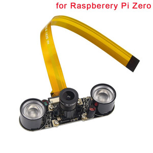 Freeshipping Raspberry Pi Zero Camera (F) Focal Adjustable Module Night Vision +2 pcs IR Sensor LED Light +16 cm FFC for Raspberry Pi Zero W
