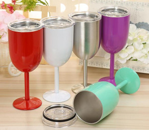 Wholesale Stainless Steel Wine Glass colors oz Wine Glasses Vacuum Double layer thermo cup Drinkware Tumbler Red Wine Mugs