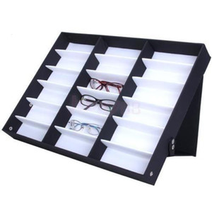 18Pcs Glasses Storage Display Case Box Eyeglass Sunglasses Optical Display Organizer Frames Tray