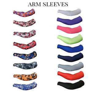 mangas del brazo de compresión al por mayor-2016 Royal Sports Compression Arm Sleeve Baloncesto Béisbol Fútbol Elite Camo colores