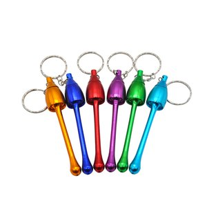 Wholesale Aluminum Keychain Mini Mushroom smoke Metal Pipes Portable Creative Smoking Pipe Herb Tobacco Pipes Gifts Grinder Smoking accessories