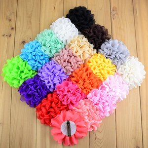 Wholesale New Big Rose WITH CLIP Kids Hair Fabric Fire finished Rim Flower Baby Girls Head Beauty Accessories H0136