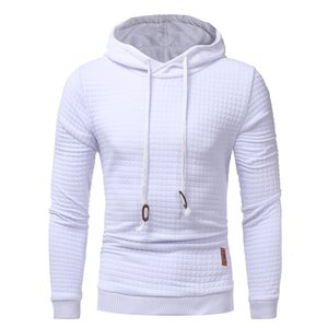 Wholesale 2017 Mens Winter Hoodies Casual Sweatshirt Hooded Black White Coat Sweats Pullover Jumper Jacket Fashion Gyms Clothing High Quality M XL