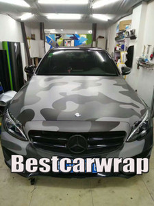 Large Black Gray Camo VINYL Full Car Wrapping Camouflage Foil Stickers with Camo truck covering foil with air free size 1.52 x 30m 5x98ft