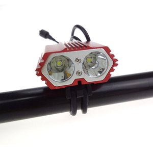 5000 LM Bicycle Light 2 * C-XM-L T6 LED Bike Lamp With 4 Mode + 8.4v 6400mah 18650 Battery Pack +Charger