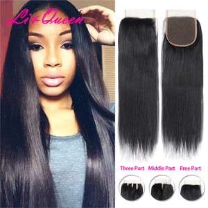 Wholesale human hair weave online resale online - Weaves closure Human hair Straight x4 lace closure Mongolian virgin hair Cheap clousures online Hot selling on dhgate From li queen hair