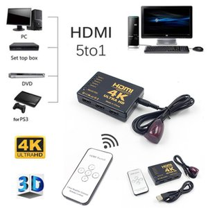 Wholesale HDMI Switch to K K P Ultra HD HDMI Switcher Splitter Port HDMI Splitter With Remote Control For TV Box PS4 DVD PC