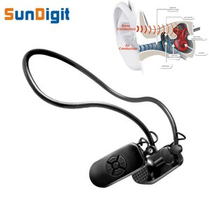 Wholesale Wholesale- Bone Conduction MP3 Player Waterproof Swimming Sport Earphones Adjustable Angle Lossless Music 4 gb 8gb Players Protect Eardrum