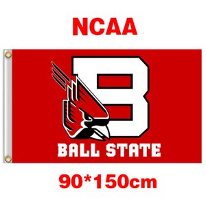 Wholesale NCAA Ball State Cardinals polyester Flag ft ft cm cm Flag Banner decoration flying home garden outdoor gifts